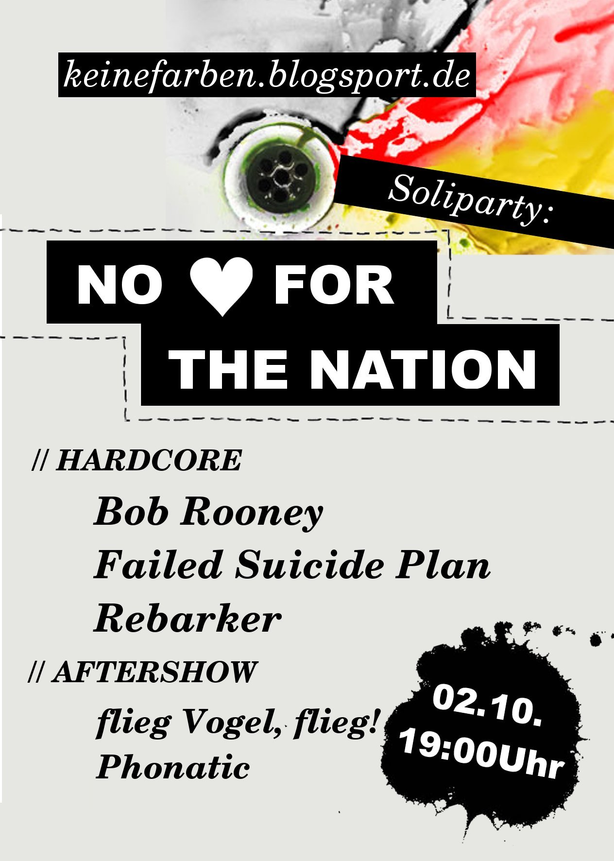 No love for the Nation - Soliparty am 2. Oktober im Haus Jena
